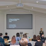 Graeme presenting at DesignMakeDo